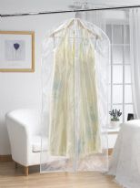 H & L Russel Long Garment Cover Twin Pack - Clear 127cm x 61cm